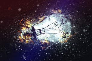 Exploding Light Bulb as Conceptual image