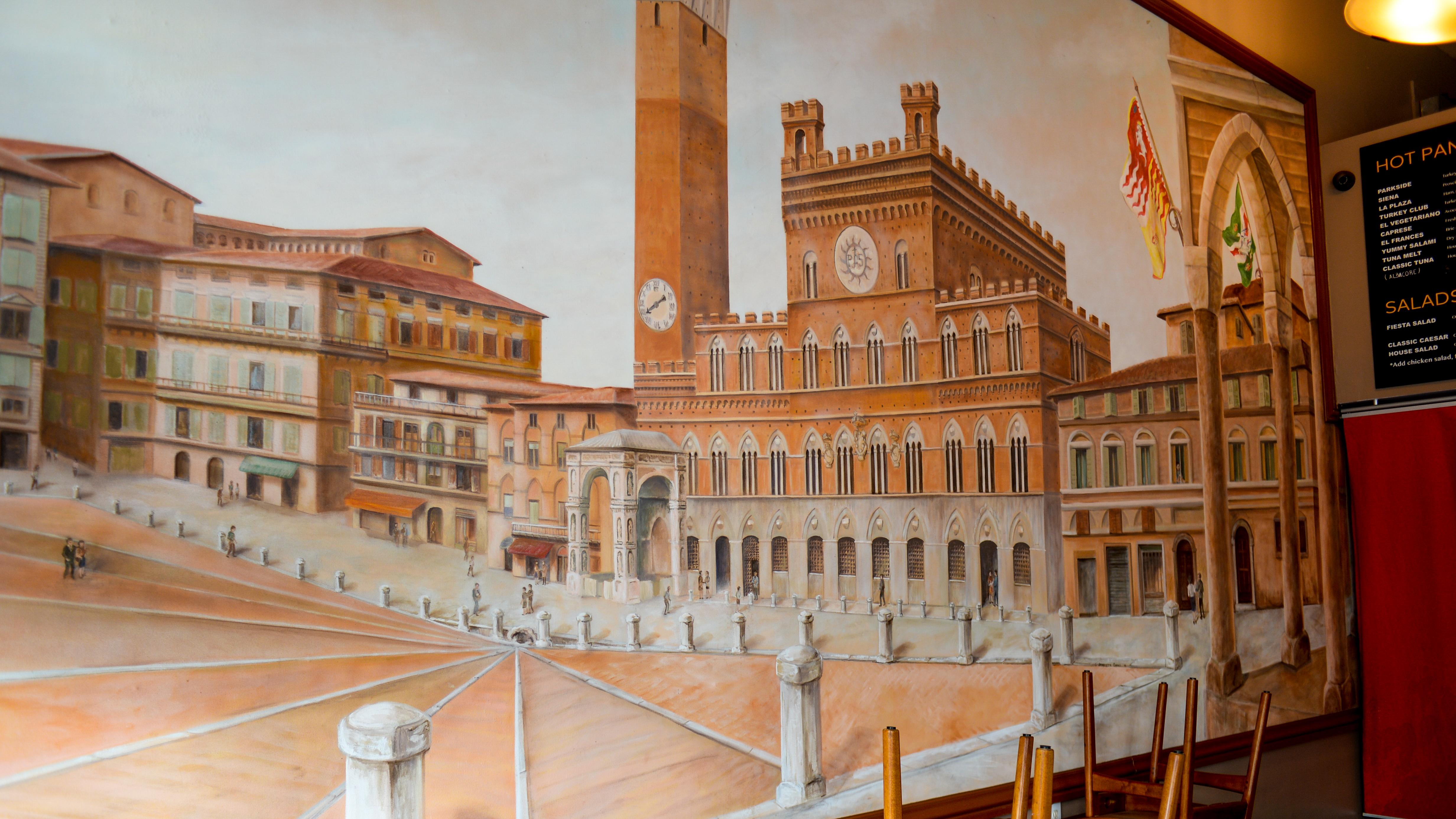 Piazza del Campo Mural - El Cafe - Parks