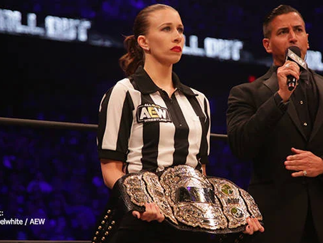 All Elite Wrestling Referee Aubrey Edwards To Auction AEW GAMES Ref Shirt To Benefit Code.org