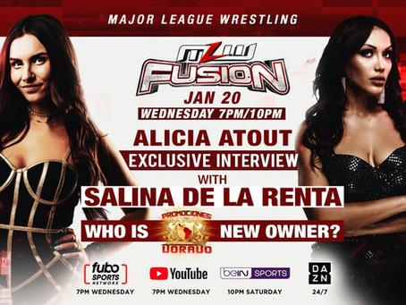 Alicia Atout Interviews Salina De La Renta On MLW FUSION