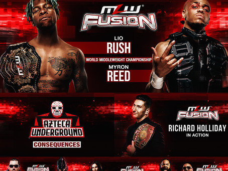 MLW FUSION Preview: Rush vs Reed 2 TONIGHT