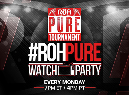 Join ROH Tonight For The Pure Tournament Watch Party At 7PM ET