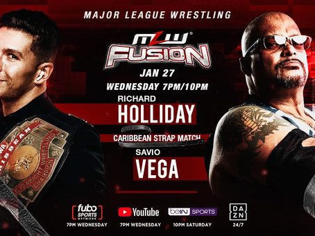 Caribbean Strap Match Headlines Wednesday's MLW FUSION