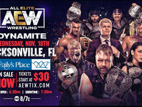 Tickets On Sale Now For AEW Dynamite 11/18/2020