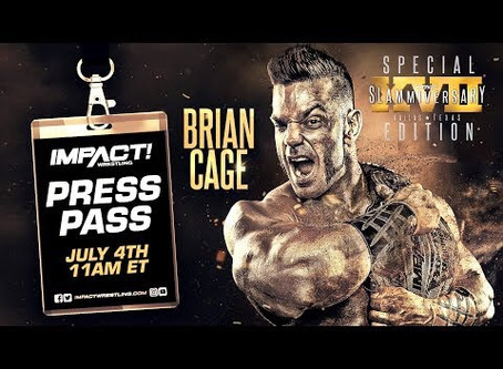 World Champion Brian Cage is the special guest on Thursday, July 4, starting at 11 AM ET.
