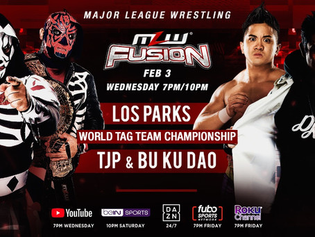 Los Parks vs. TJP & Bu Ku Dao World Tag Match Set For MLW FUSION