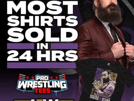 Brodie Lee's 'Exalted In Heaven' Shirt Broke The New Record For Most Sold Shirt In 24 Hours