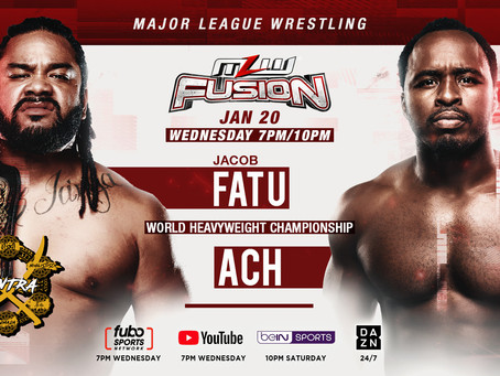 Fatu vs. ACH For MLW World Title This Wednesday On MLW FUSION