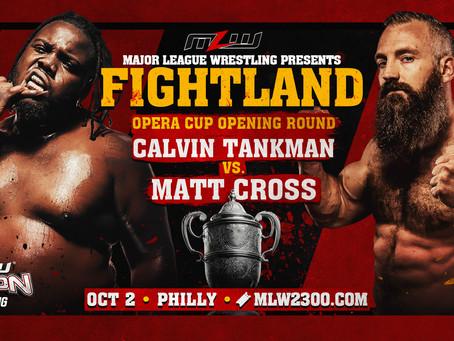 Calvin Tankman vs. Matt Cross Added To FIGHTLAND In Philly