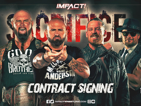 "Impact Wrestling Preview (3/9): Go-Home Show Before ""Sacrifice,"" Tag Team Contract Signing"