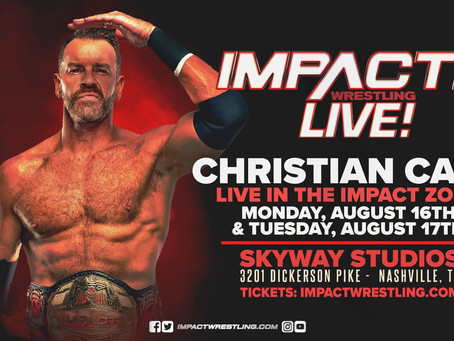New IMPACT World Champion Christian Cage To Appear In The IMPACT Zone This Monday & Tuesday
