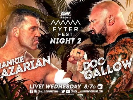 Doc Gallows To Wrestle First AEW Singles Match At Fyter Fest Night Two