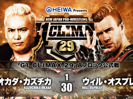 Will Ospreay vs Okada 10/16/2020 G1 Climax Report