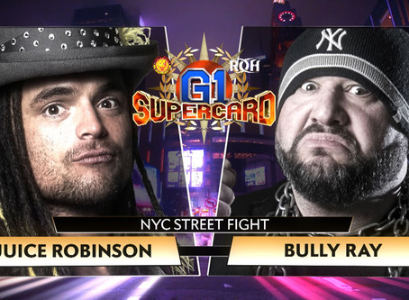 JUICE ROBINSON ANSWERS BULLY RAY'S CHALLENGE FOR NYC STREET FIGHT AT G1 SUPERCARD