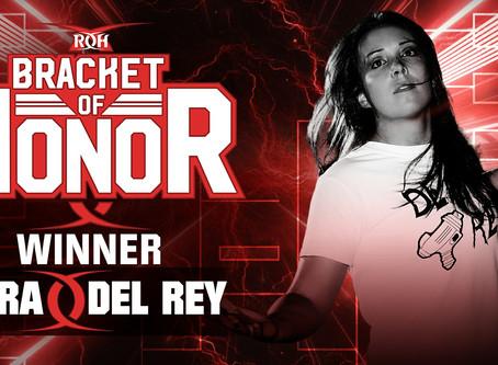 Sara Del Rey Wins Women's Bracket of Honor Championship