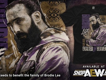 AEW Releases A Brodie Lee Exalted In Heaven Tribute Shirt, All Sales Proceeds Go To Family