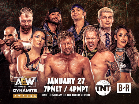 "TNT to Produce First Annual ""AEW Dynamite Awards""Distributed Exclusively on Bleacher Report"