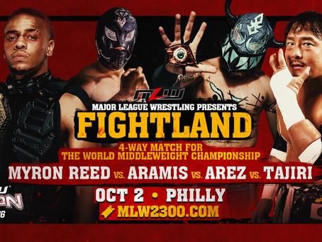 Tajiri vs. Aramis vs. Arez vs. Reed 4-Way Title Match Signed