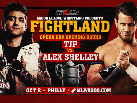 TJP vs. Alex Shelley Signed For FIGHTLAND In Philly