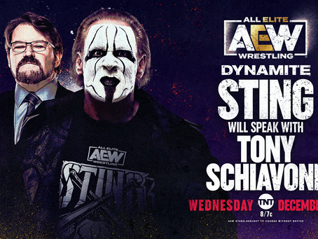 Tony Schiavone Interviews Sting Live On Dynamite (Full Recap)
