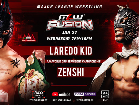 AAA World Cruiserweight Title Match On MLW FUSION