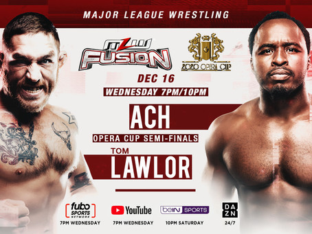 Tom Lawlor vs ACH Opera Cup Semi-Finals Set For Wednesday's MLW FUSION