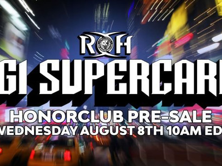 Pre-sale Tickets Announced For ROH/NJPW 'G1 Supercard' At MSG