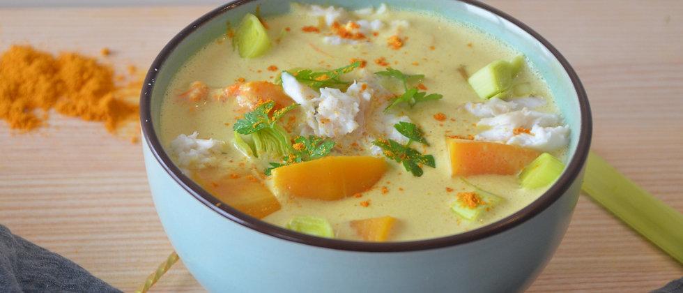 Pack 2 portions - Curry jaune de poisson et butternut