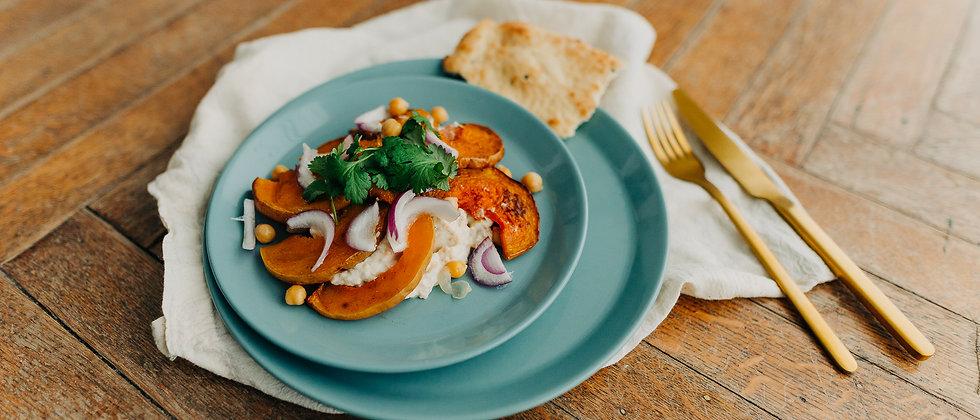 Salade à la marocaine à la courge et au pois chiche