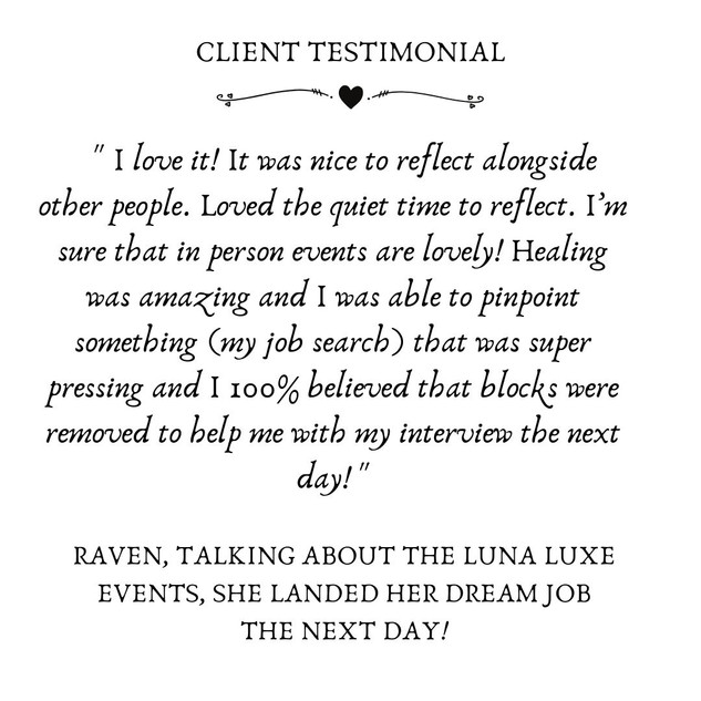 On Our Luna Luxe Events