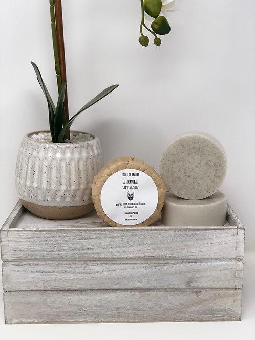 Shea Butter & Bentonite Clay Shaving Soap