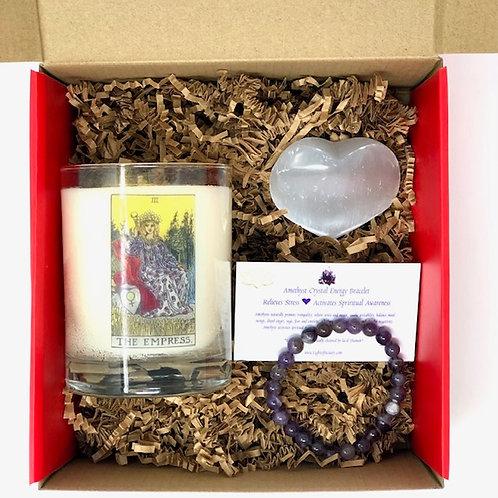 Tarot Candle & Energy Crystal Gift Box