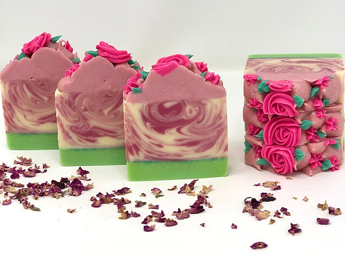 Royal Rose Frosted Soap
