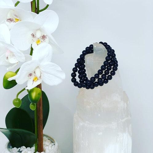 Black Tourmaline Crystal Energy Bracelet