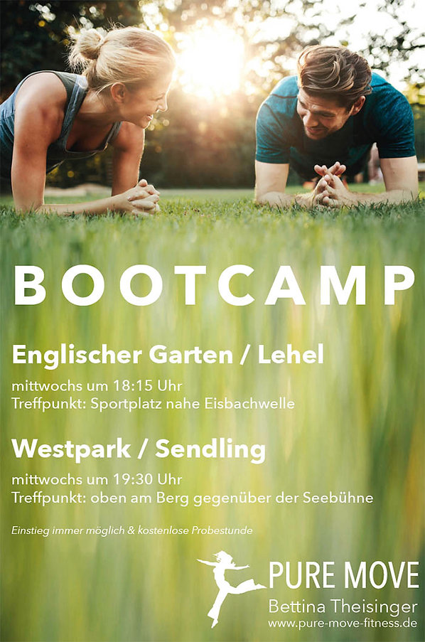 Bootcamp, Boot Camp, Outdoor Fitness, Westpark, Lehel, Englischer Garten