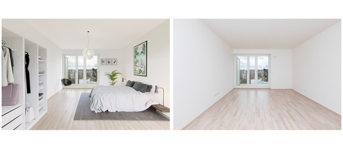 virtuelles Homestaging Concept Bau