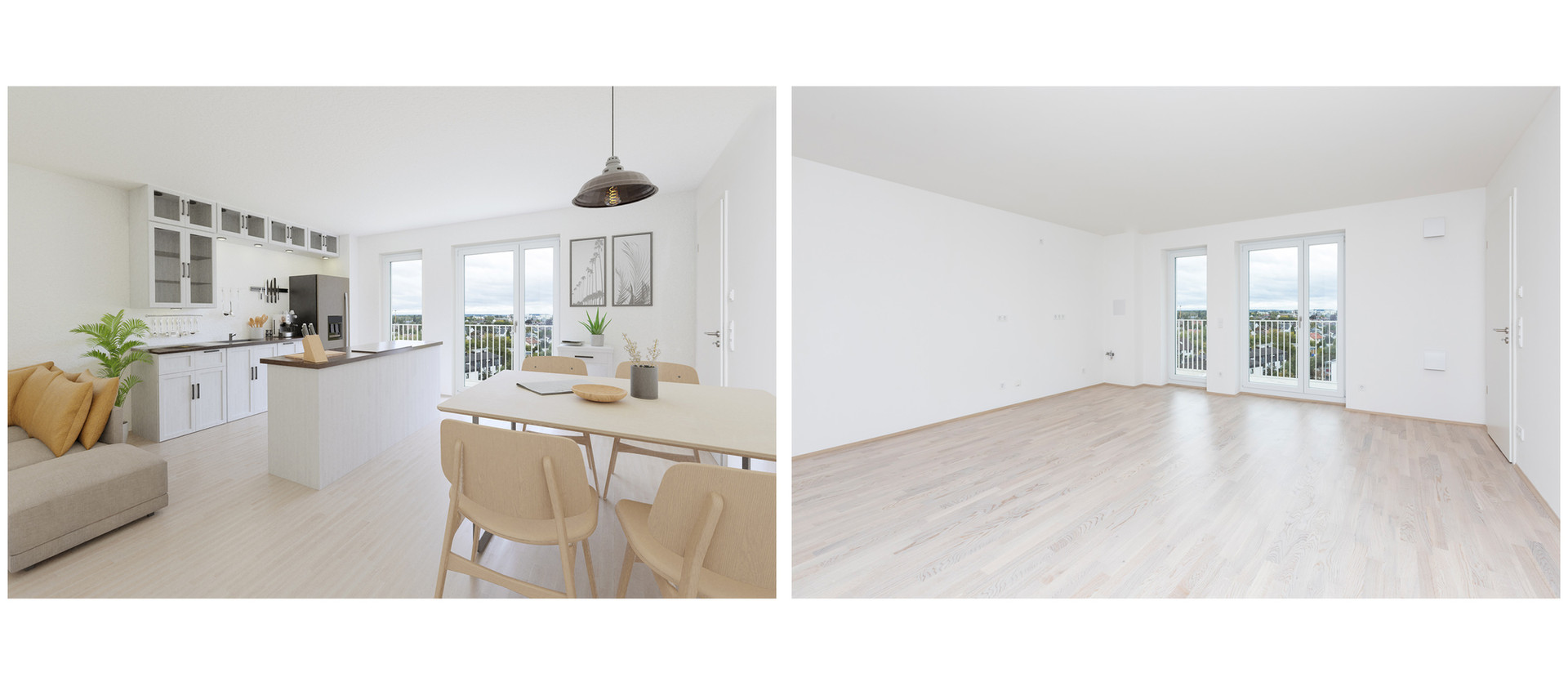 virtuelles Homestaging Concept Bau