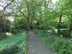 Garden, Stream & Footbridge