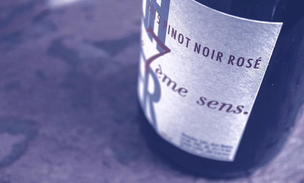 """""""le 7ème sens"""" Pinot Noir Rosé ´15 Sparkling"""