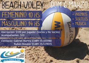 Beach Voley en Campana - 6 de Marzo
