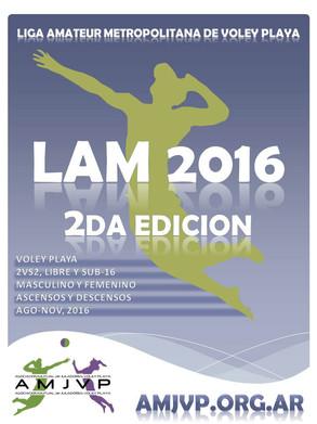 2 Edición - Ago/Nov 2016                     Liga Amateur de Voley Playa