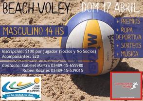 Beach Volley en Campana - 17 de Abril