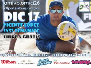 Convocatoria al Juego #26 - 17 de Diciembre - Vicente López