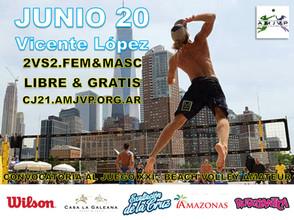 Convocatoria al Juego #21 - 20 de Junio - Vicente Lopez