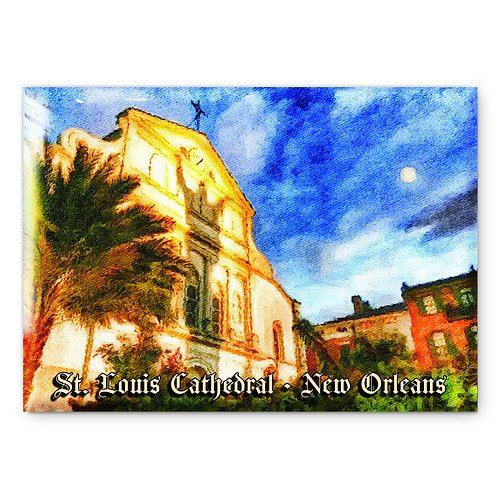 St. Louis Cathedral Magnet or Pin