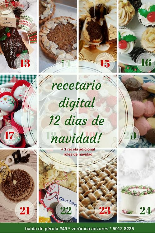 Recetario 12 días de Navidad