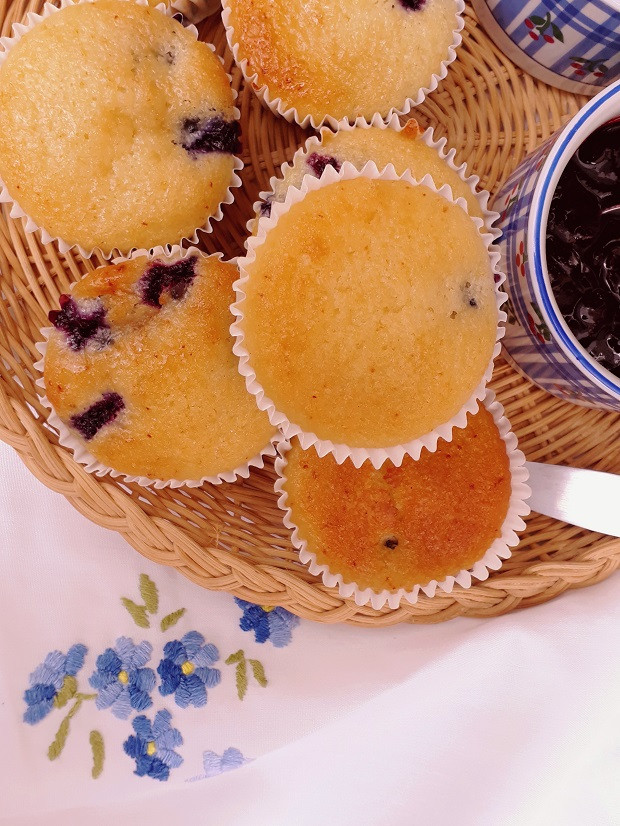 Mantecadas con blueberry