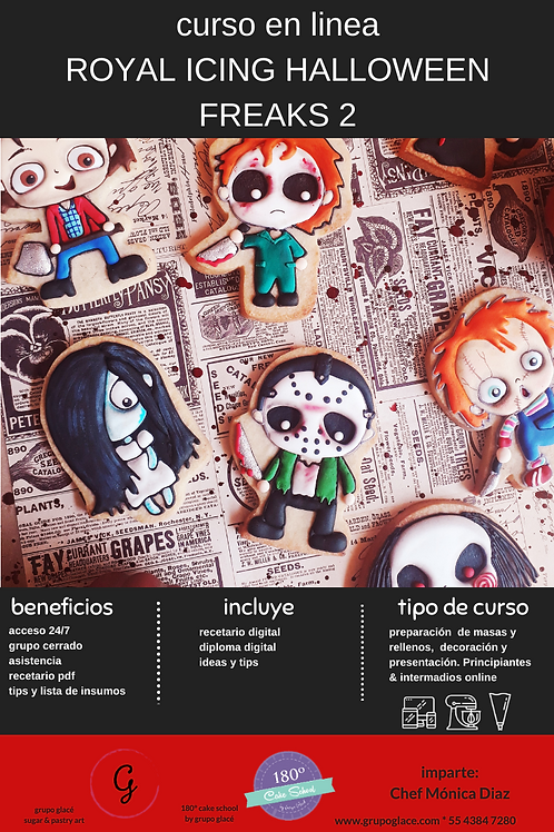 CURSO ROYAL ICING HALLOWEEN FREAKS 2