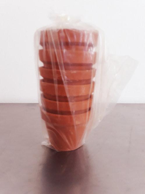 Mini macetas de barro (lote de 6 piezas)