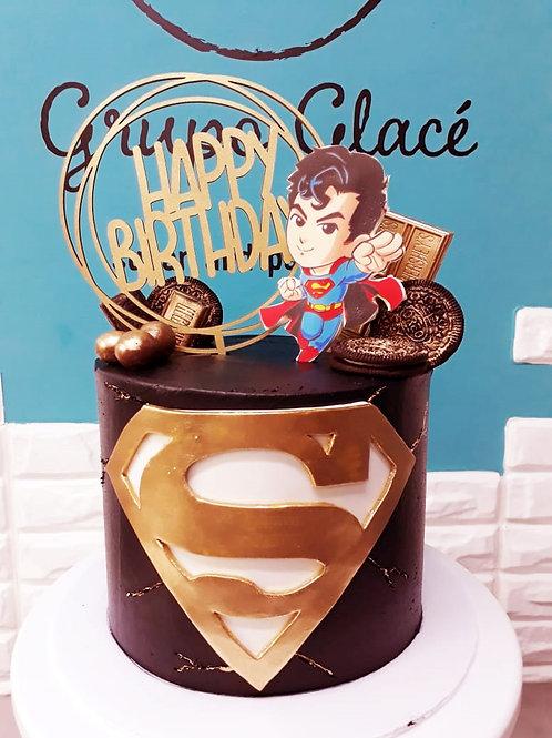 SUPER SUPER MAN CAKE!